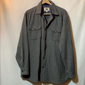 Gray flannel XXL button down shirt